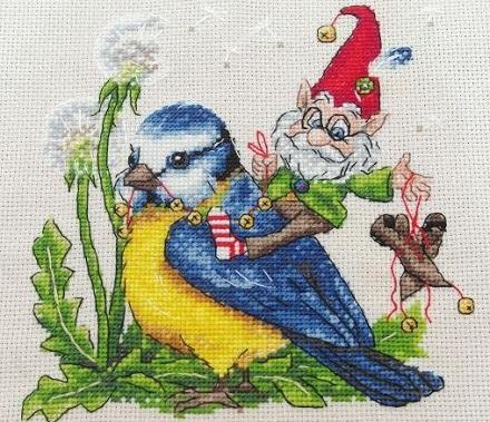 Gnome on Chickadee by Merejka