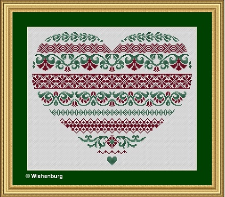 Flower Heart Nicole by Stickideen Von Der Wiehenburg