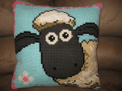"Hand-stitched ""Shaun the Sheep"" by Anchor"