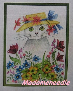 Woodpoppy-printed panel by Di van Niekerk
