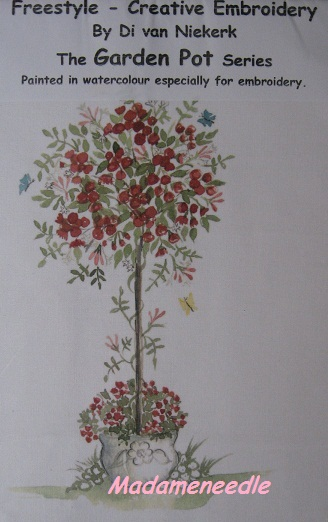 The Rose Tree-printed panel by Di van Niekerk