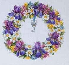 Wreath with Irises,K-108,Merejka