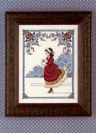 Winter Rose-LL2- cross-stitch chart