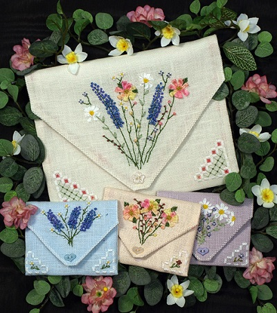 French Linen Pockets by The Victoria Sampler