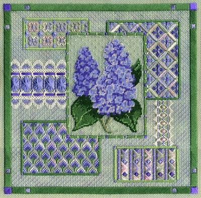 Lilac collage by Laura J.Perin Designs