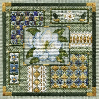 Magnolia collage by Laura J.Perin Designs