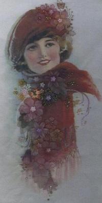 Mary silk panel