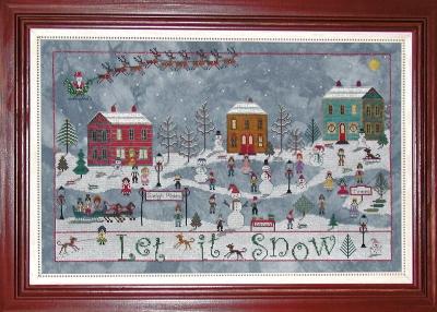 December Snow by  Praiseworthy Stitches