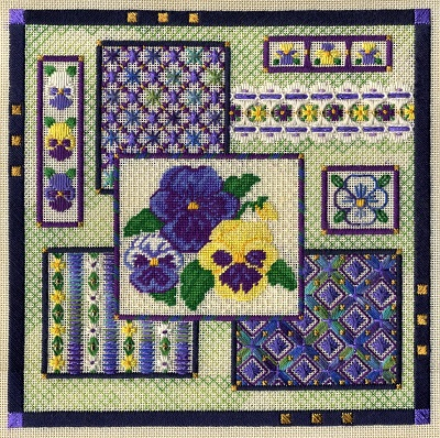 Pansy collage by Laura J.Perin Designs
