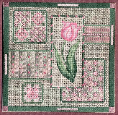 Pink Tulip Collage by Laura J.Perin Designs