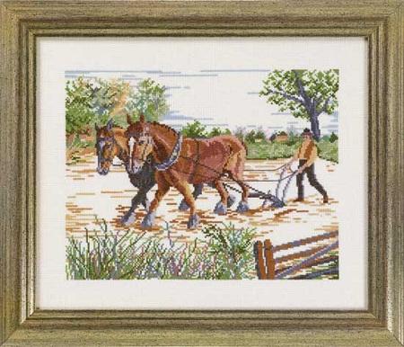 Ploughman by Permin