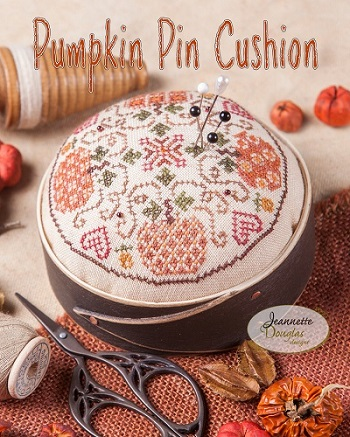 Pumpkin Pincushion by Jeannette Douglas Designs
