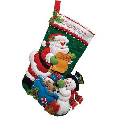 Santa's list by Bucilla