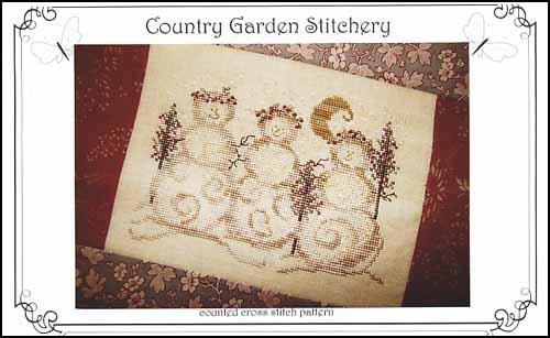 Snowgirls by Country garden stitchery