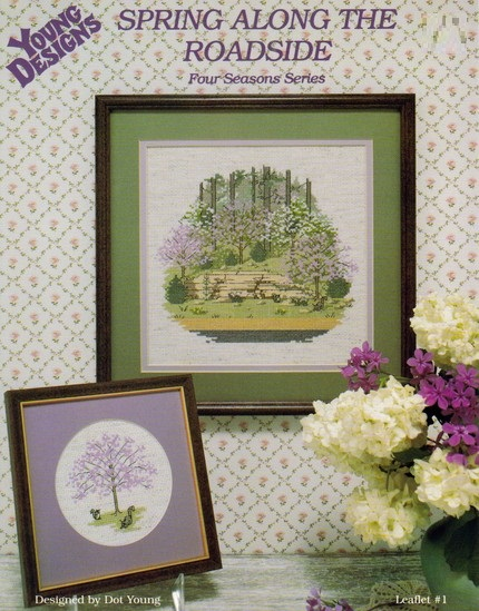 Spring along the roadside cross-stitch chart