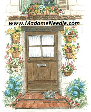 Brown door printed panel by Di van Niekerk