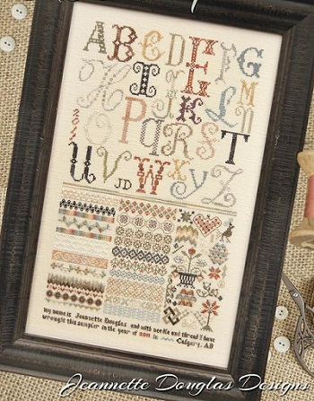 ABC sampler by Jeanette Douglas Designs