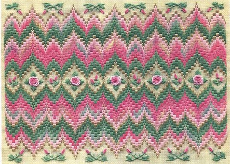 Bargello & Roses by Laura J.Perin Designs