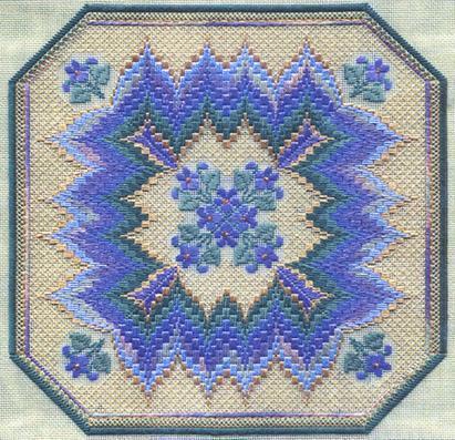 Bargello& Violets by Laura J.Perin Designs