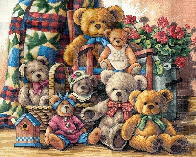 Teddy Bear Gathering-35115- by Dimensions