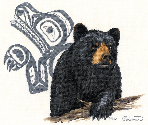 Native bear by Stitching Studio