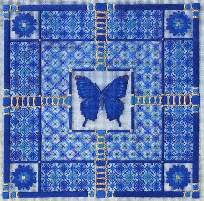 Blue butterfly by Laura J.Perin Designs