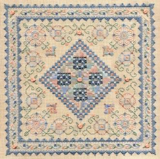 Blue ribbon sampler by Laura J.Perin