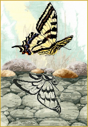 Butterfly reflection by Stitching Studio