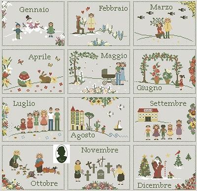 Calendario 12 Mesi by Sara Guermani