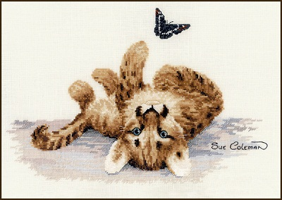 Cougar kitten by Stitching Studio