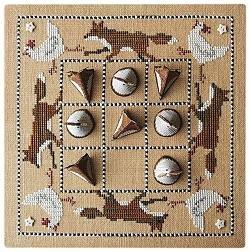 Fox & Hen Noughts & Crosses Game Board by Samsarah Design Studio