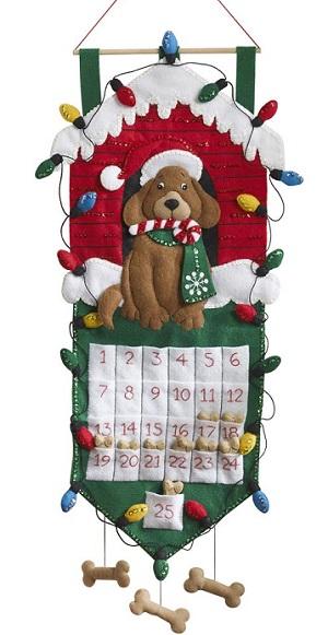 Dog advent calendar by Bucilla