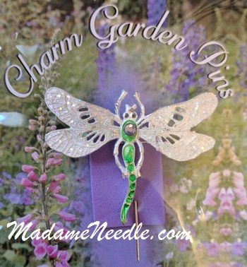 Sparkle Dragonfly pin by Just Nan