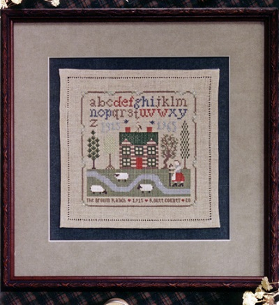 Brown Ranch sampler by The Drawn Thread