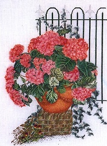 Rose Hydrangea With Fence by Thea Gouverneur