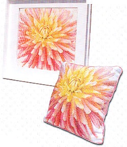 Dahlia pillow/pictire by Thea Gouverneur