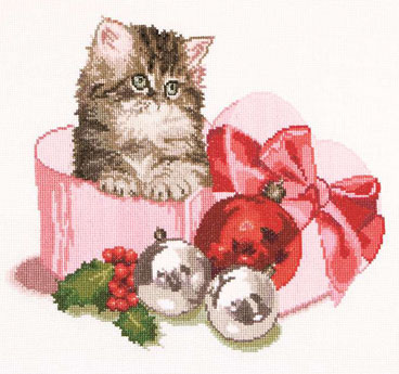 Christmas kitten by Thea Gouverneur