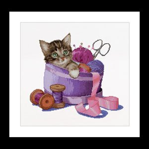 Sewing Basket Kitten by Thea Gouverneur