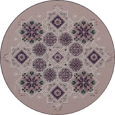 Amethyst Snowflake, JN042R by Just Nan