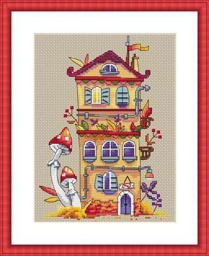 Autumn house,K-54, by Merejka