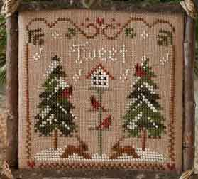 Cardinal winter by Little House needleworks