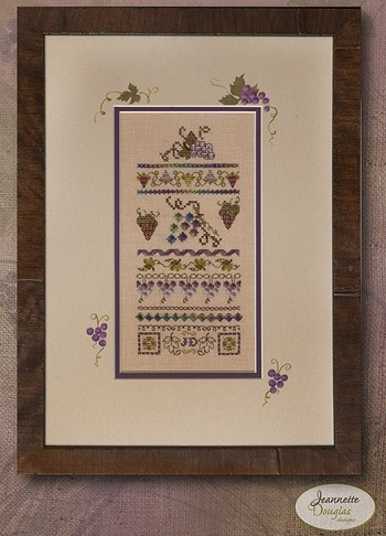 Mini Vintage Grape Stitches by Jeannette Douglas Designs