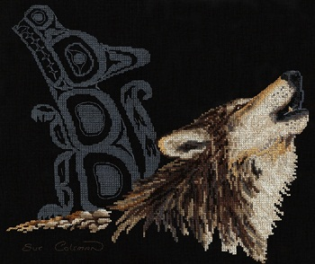 Native wolf by Stitching Studio