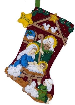 Nativity stocking by Bucilla