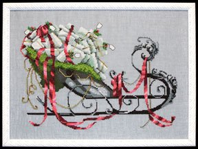 Santas Sleigh-NC122-by Nora Corbett