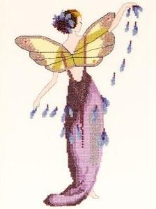 Lavender Spring Garden-NC136- by Nora Corbett