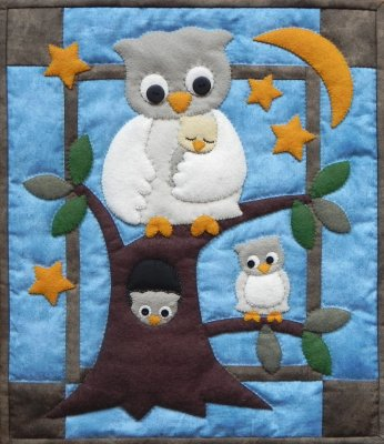 Owl family quilt kit by Rachael's of Greenfield