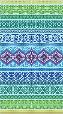 Peacock Band Sampler (cross stitch only version),Northern Expressions
