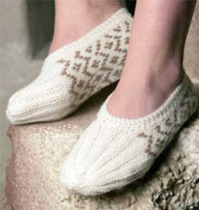 Slippers knitting kit