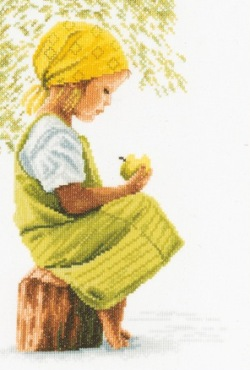 Girl with apple by Lanarte